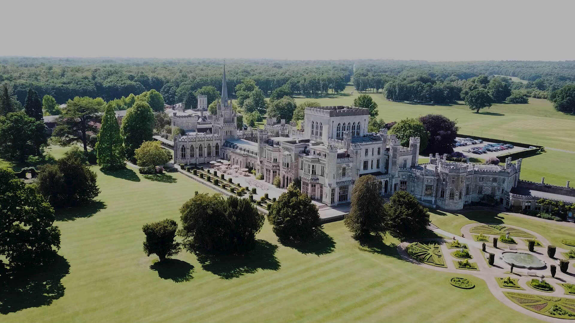 Ashridge aerial footage by drone